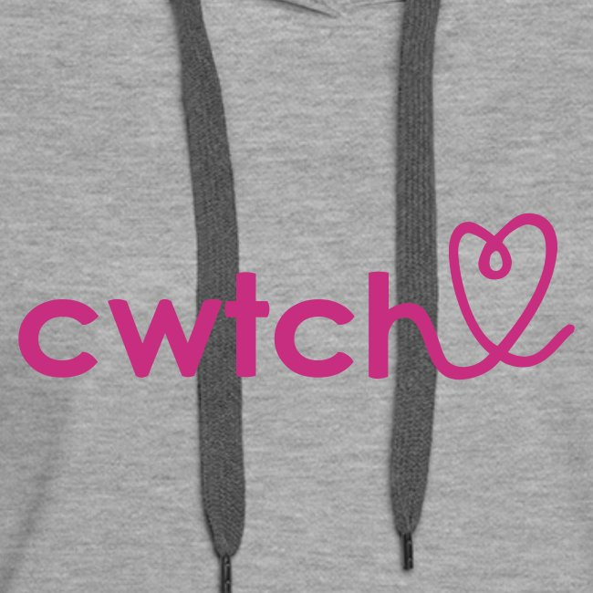 Cwtch with heart girls hoodie.. one of our new favourites