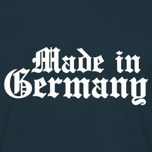 MADE IN GERMANY T-Shirt navy, Motiv weiß - Männer T-Shirt