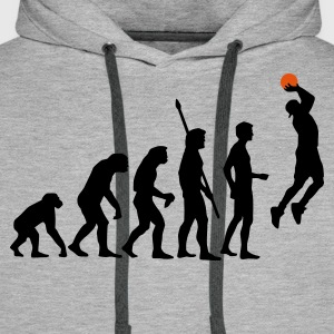 evolution_basketball_b_2c Sweat-shirts - Sweat-shirt à capuche Premium pour hommes