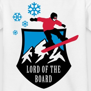 Weiß lord_of_the_board_b_3c Kinder T-Shirts - Teenager T-Shirt