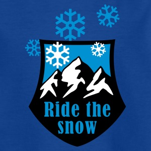 ride_the_snow_3c T-shirts - T-shirt tonåring