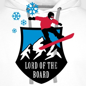 lord_of_the_board_b_3c Felpe - Felpa con cappuccio premium da uomo