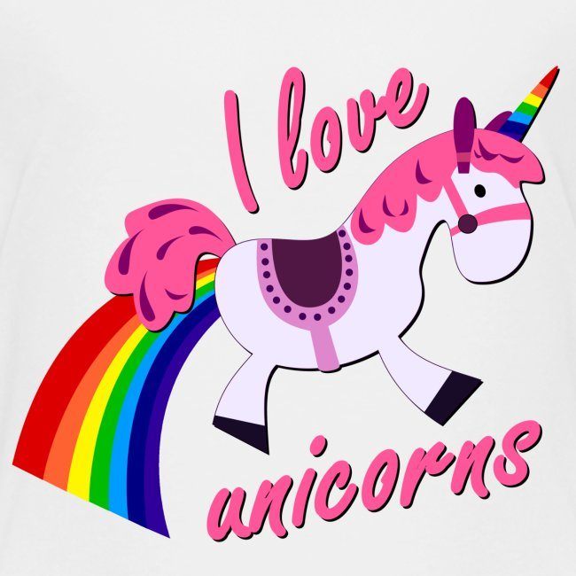 I love unicorns kinder t-shirt