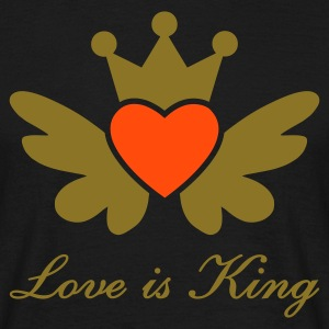 T-Shirt Mann Love is King Motiv 19 - Männer T-Shirt