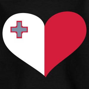 Schwarz Malta heart - eushirt.com Kinder T-Shirts - Teenage T-shirt