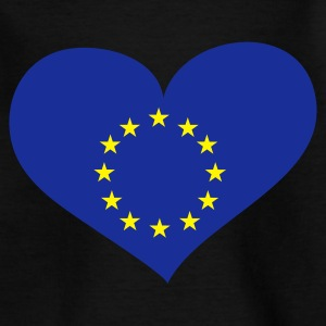 Schwarz Europe heart / Europa Herz - eushirt.com Kinder T-Shirts - Teenage T-shirt