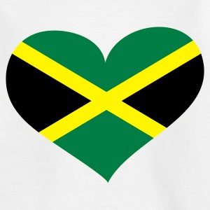 Weiß Jamaica heart - eushirt.com Kinder T-Shirts - Teenager T-Shirt