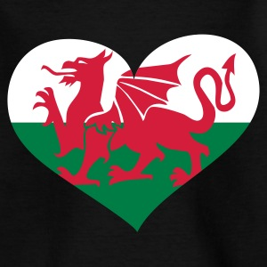 Schwarz Wales heart / Cymru Calon - eushirt.com Kinder T-Shirts - Teenage T-shirt