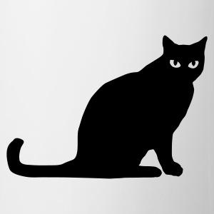 suchbegriff schwarze katze tassen zubeh r spreadshirt. Black Bedroom Furniture Sets. Home Design Ideas