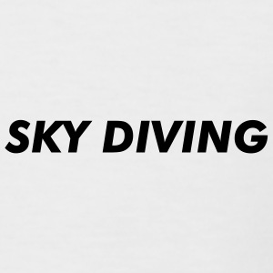 Sky Diving Motif au dos - T-shirt baseball manches courtes Homme
