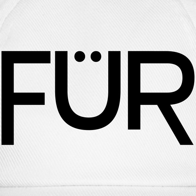 FÜR Magazine Baseball Cap Black On White