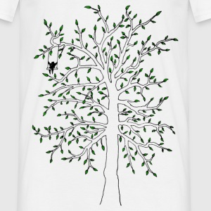 Vit man in tree T-shirts - T-shirt herr
