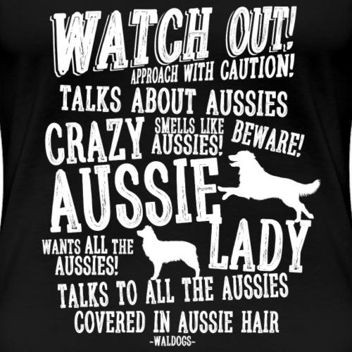Crazy Aussie Lady White