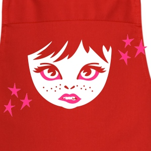 Red girlie face girl gesicht  Aprons - Cooking Apron