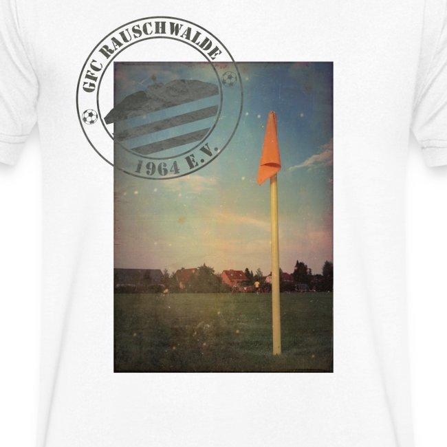 Männer Sportplatz  - V-Shirt Weiß