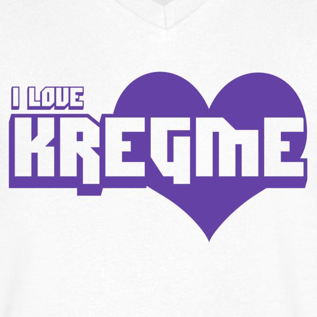 I Love Kregme Vneck White