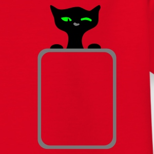 Rood retro black cat wink :) by Patjila Kinder shirts - Teenager T-shirt