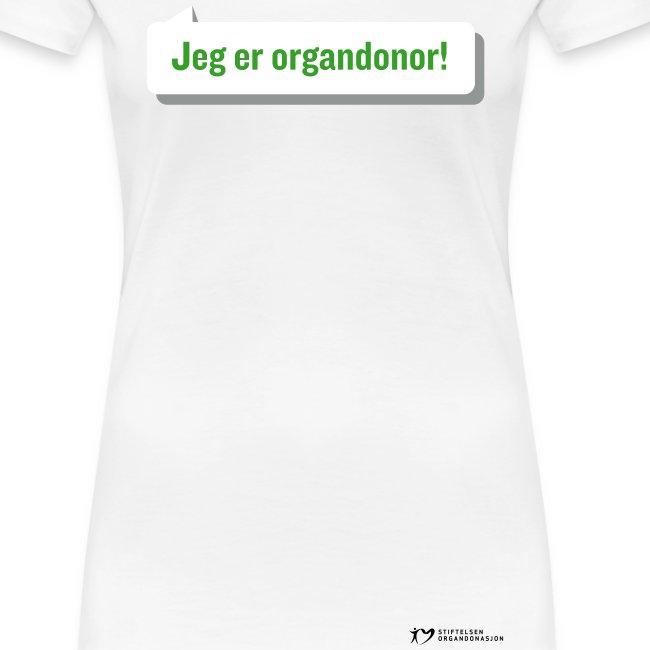 """Jeg er organdonor"" t-skjorte – dame"