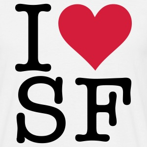 White I Love San Fransisco (2c, NEU) Men's T-Shirts - Men's T-Shirt