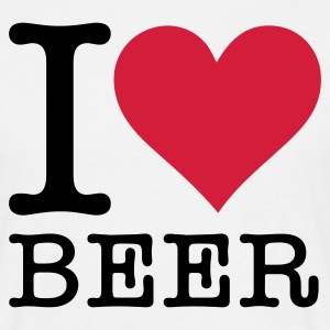 Wit I Love Beer 2 (2c, NEU) T-shirts - Mannen T-shirt