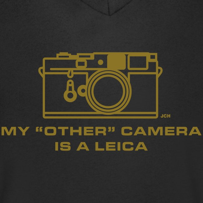 """My """"other"""" camera is a Leica. GOLD Premium 100% cotton"""