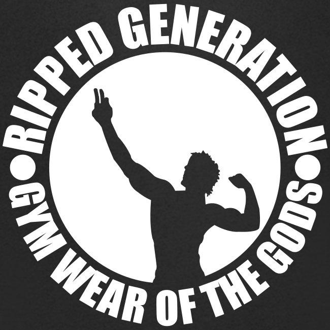 Miesten V-Aukollinen T-Paita Ripped Generation
