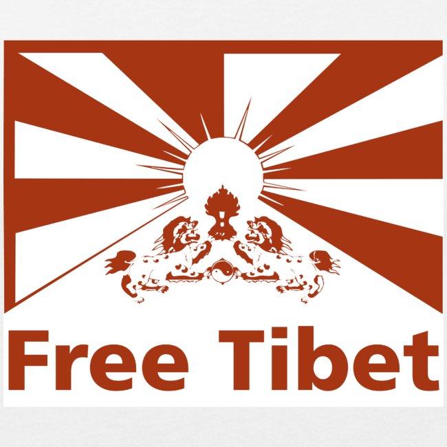 Flagge Free Tibet red