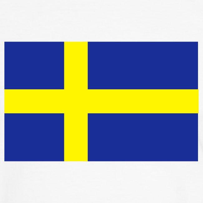 SWEDEN FLAG CONTRAST TEE
