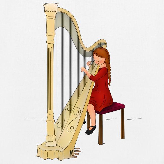 Child playing Harp