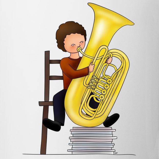 Child playing Tuba