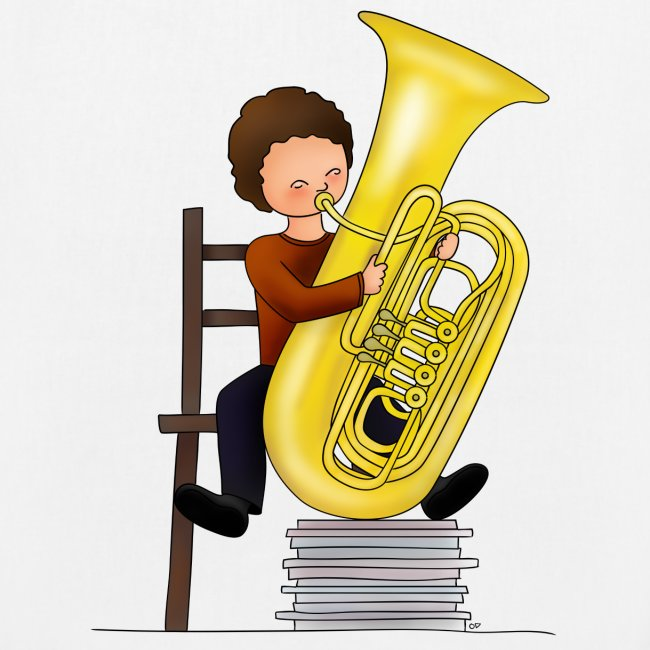 Child playing Tuba