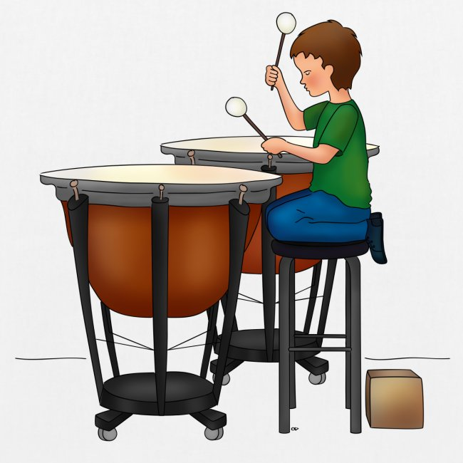 Child playing Timpani