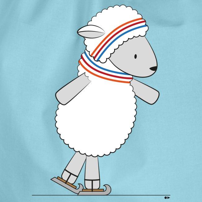 Sheep ice skating