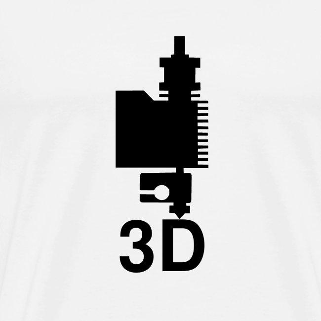 3D Druckkopf in schwarz