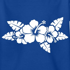Royalblau hawaiian flower Kinder T-Shirts - Teenager T-Shirt