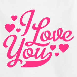 Weiß i love you - ich liebe dich Kinder T-Shirts - Teenager T-Shirt