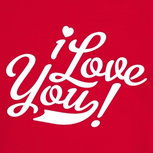 Rouge/blanc i love you - ich liebe dich - valentinstag T-shirts - T-shirt contraste Homme