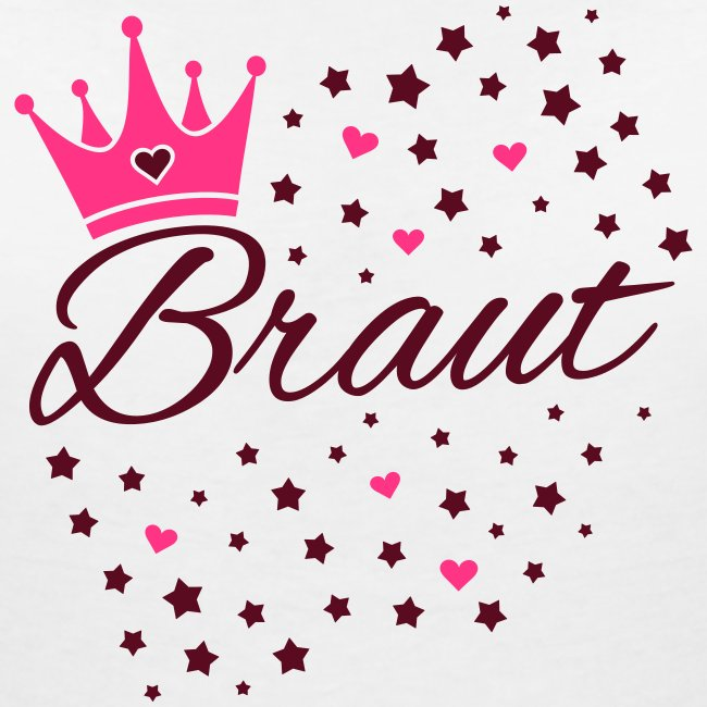 Braut Sternenhimmel Herzen und Krone