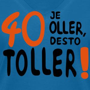 """Geburtstag T-Shirts mit """"40 - je oller"""""""