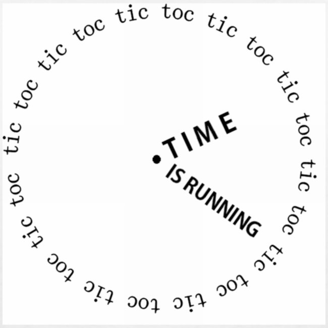 Time is running (white)
