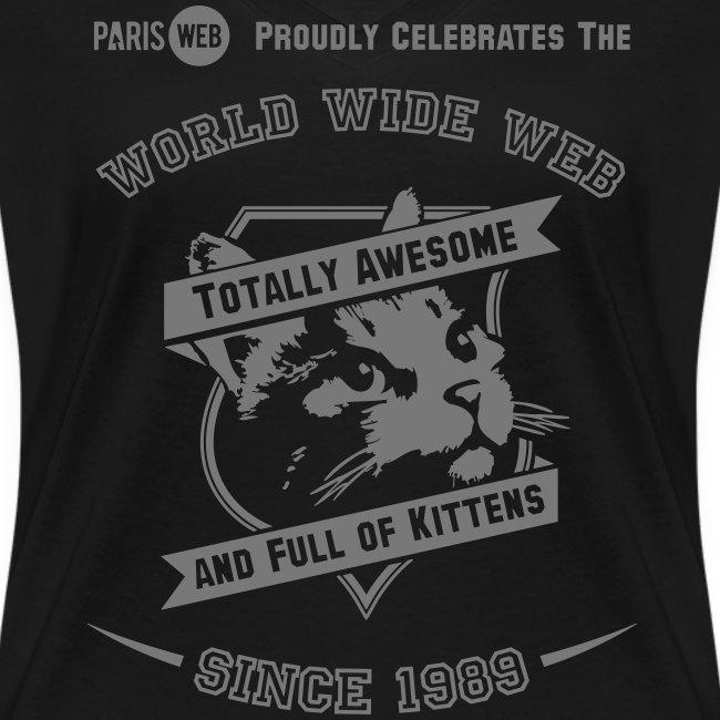 Awesome & full of kittens - Tshirt Femme col V