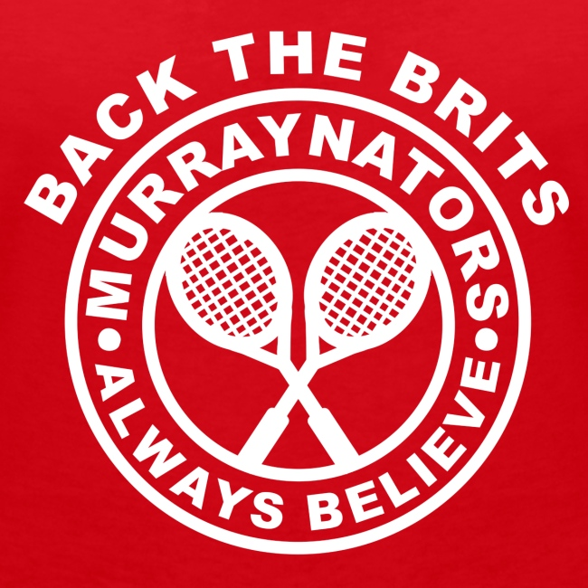 Murraynators - Back The Brits. Womens V-Neck Red T.