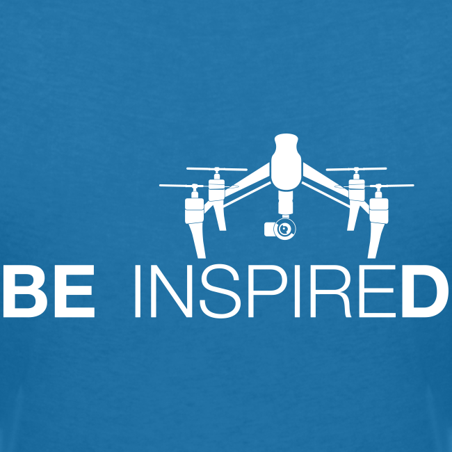 T-shirt V: Be Inspired (woman) | Blue