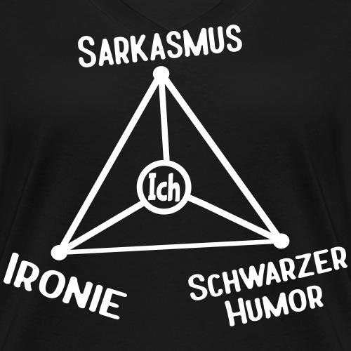 Ironie Sarkasmus Schwarzer Humor Dreieck