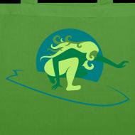 Motiv ~ Bio-Stofftasche grün/grün