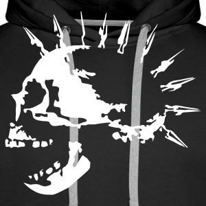 spike_skull_c_1c Sweat-shirts - Sweat-shirt à capuche Premium pour hommes