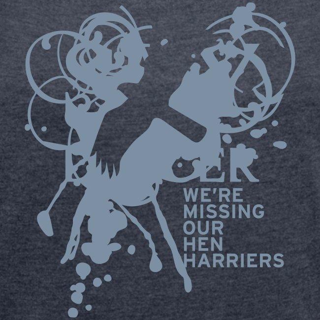 BAWC Hen Harrier Day Women's Rolled Up Sleeve T-Shirt