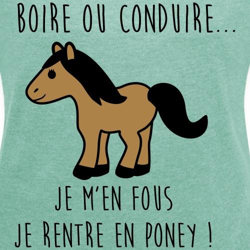 Je rentre en poney - humour - citations