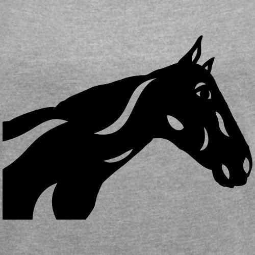 Abstraktes Pferd Crimson
