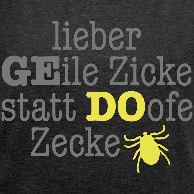 Frauen Derbyshirt - 2farbiges Motiv grau/gelb